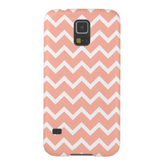 Coral and White Zig Zag Pattern. Galaxy S5 Covers