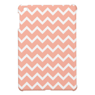 Coral and White Zig Zag Pattern. iPad Mini Covers