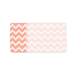 Coral and White Zig Zag Pattern. Label