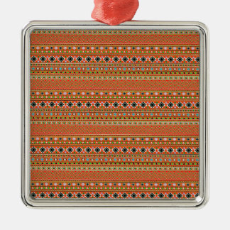 Coral Aztec Style Southwestern Pattern Christmas Ornament