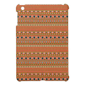 Coral Aztec Style Southwestern Pattern iPad Mini Cover