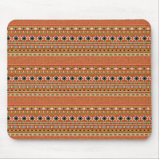 Coral Aztec Style Southwestern Pattern Mouse Mat