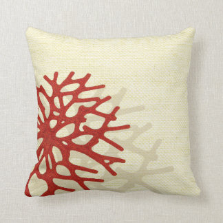 Coral Beach Linen Look Cushion