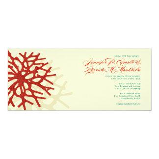 Coral Beach Ocean Reef Wedding Invitation