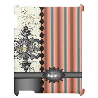 Coral Black Ledger Monogram iPad Case iPad Cases