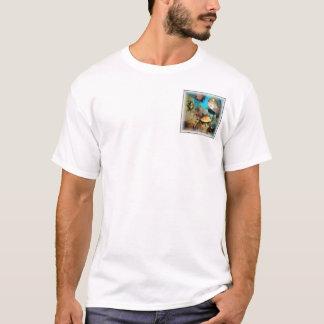 Coral Blue Square Pocket T-Shirt