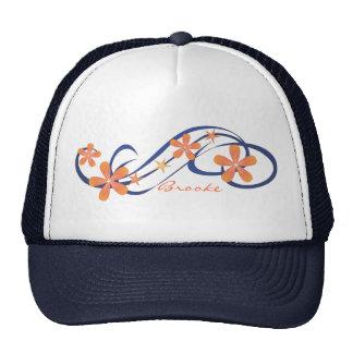 Coral Blue Tropical Mesh Hats