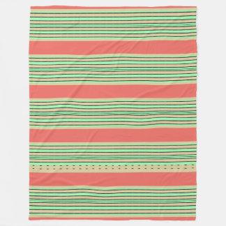Coral-Boat-Decking-Green-STRIPES-L- Fleece Blanket