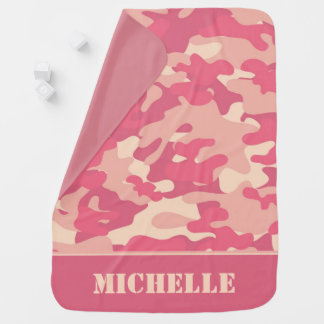 Coral Camouflage | Personalized Baby Blanket
