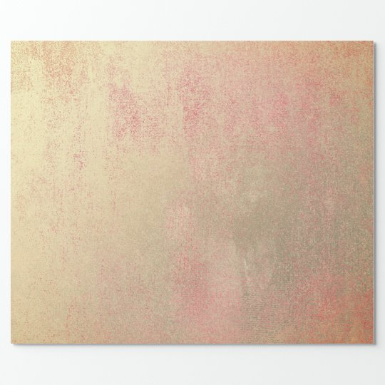 Coral Candy Champaign Sepia Foxier Gold Abstract Wrapping