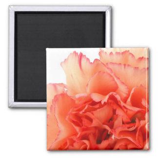 Coral Carnation Flower Bloom Fridge Magnet