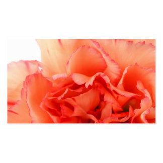 Coral Carnation Flower Bloom Pack Of Standard Business Cards