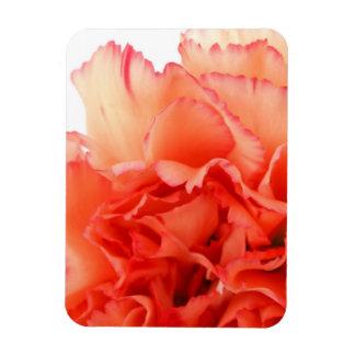 Coral Carnation Flower Bloom Rectangle Magnet