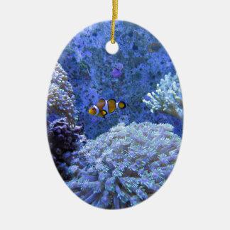 Coral Ceramic Oval Decoration