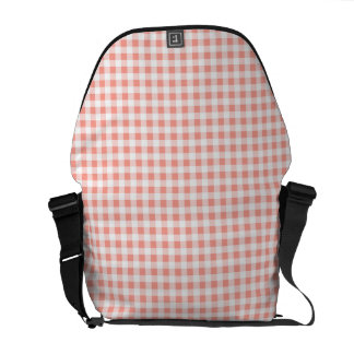 Coral Check messenger bag medium