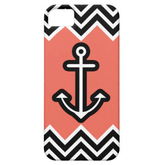 Coral Chevron Nautical iPhone 5 Cases