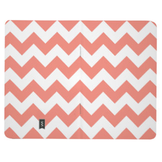 Coral Chevron Zigzag Journal