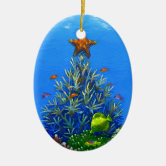 Coral Christmas Tree ornament