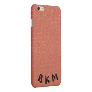 Coral Colored Snakeskin Repile Print iPhone 6 Plus Case