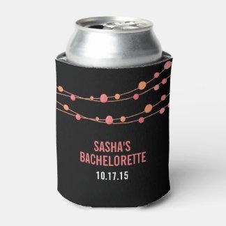 Coral Confetti Personalized Bachelorette Party Can Cooler
