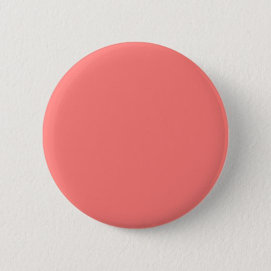 Coral coral 6 cm round badge
