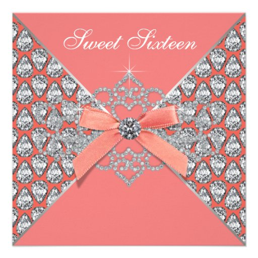 Coral Quinceanera Invitations is one of our best ideas you might choose for invitation design