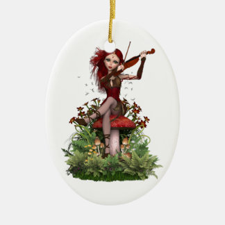 Coral Fairy ~ Sweet Melody Ceramic Oval Decoration