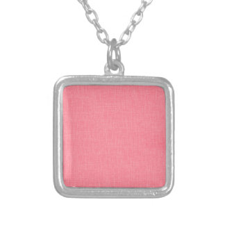 Coral Faux Linen Fabric Textured Background Necklace