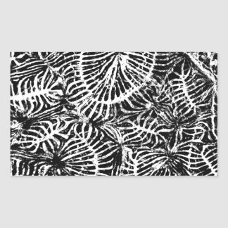 Coral fossil rectangular stickers