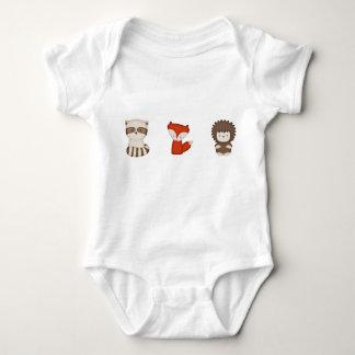 Coral Fox & Friends Onsie Baby Bodysuit