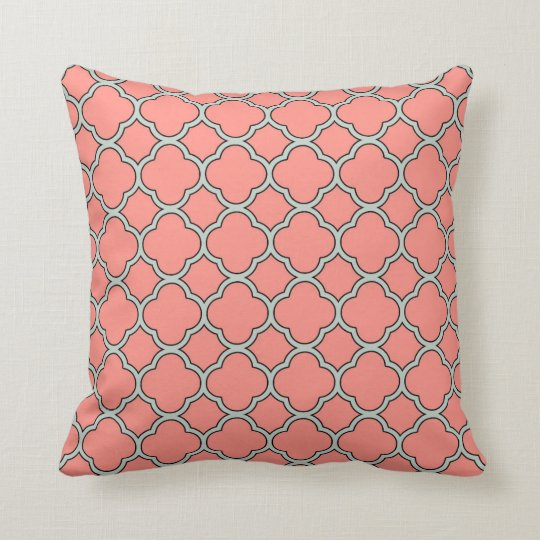 Coral Gables with Palladian Blue Throw Pillow