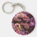 Coral Garden Round Keychain