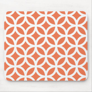 Coral Geometric Mouse Mat