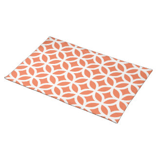 Coral Geometric Placemat