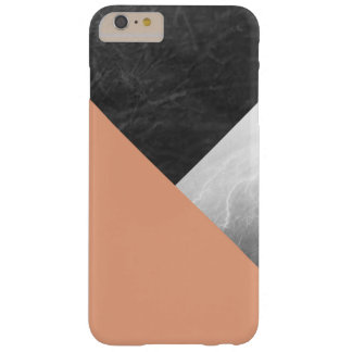 Coral Gray and White Geometric Triangles Barely There iPhone 6 Plus Case
