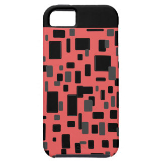 Coral gray black geometric pattern iPhone 5 cases