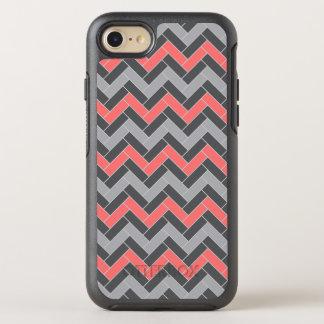 Coral Gray Herringbone OtterBox Symmetry iPhone 7 Case