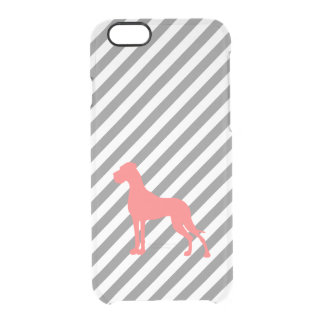 Coral Great Dane Clear iPhone 6/6S Case