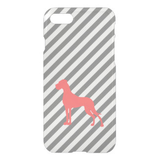 Coral Great Dane iPhone 7 Case