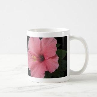 Coral Hibiscus Basic White Mug