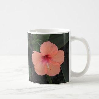 Coral Hibiscus Mug