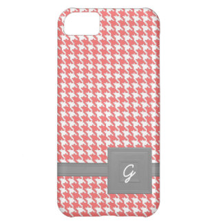 Coral Houndstooth iPhone 5C Case
