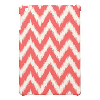 Coral Ikat Chevron iPad Mini Covers