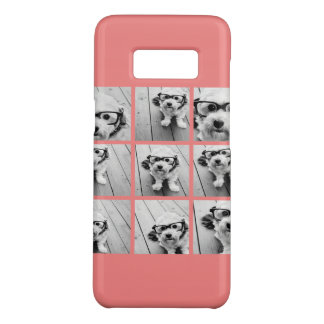 Coral Instagram Photo Collage with 9 photos Case-Mate Samsung Galaxy S8 Case