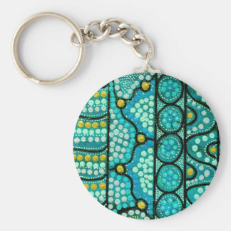 Coral Journey Basic Round Button Key Ring