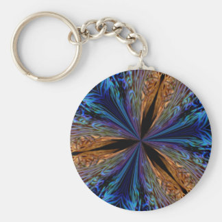 coral kaleidoscope keychain