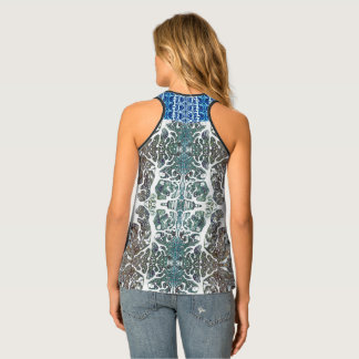 Coral Kaleidoscope Patterned Tank Top