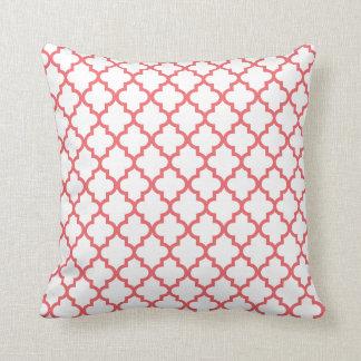 Coral Lattice Pattern Pillow