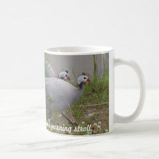 Coral & Lavender Guineas on a morning... Basic White Mug