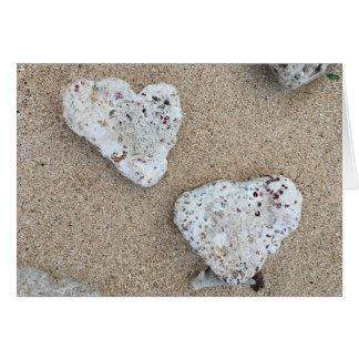 coral love notecard